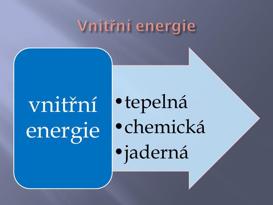 teplo elektřina chemická energie mechanická energie absorpce Crookesů v mlýnek tepelný motor tření vařič termoelektrický článek chemická reakce hoření akumulátor elektrolýza elektromotor generátor fotosyntéza sluneční článek Slunce