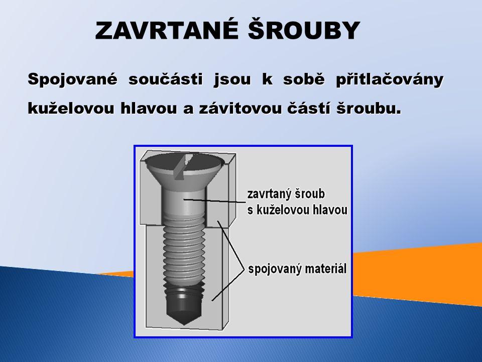POJIŘTĚNÍ ŠROUBOVÝCH SPOJŮ Během provozu může dojít v důsledku otlačení dosedacích ploch, nebo vlivem dynamického namáhání, k uvolnění šroubového spoje a tím ke ztrátě jeho funkce.