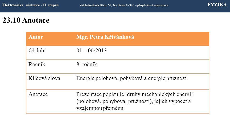 23.9 Použité zdroje a citace Elektronická učebnice - II.