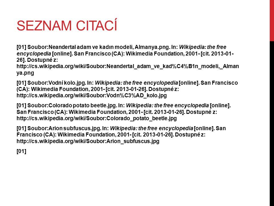 SEZNAM CITACÍ [01] Soubor:Neandertal adam ve kadın modeli, Almanya.png. In: Wikipedia: the free encyclopedia [online]. San Francisco (CA): Wikimedia F