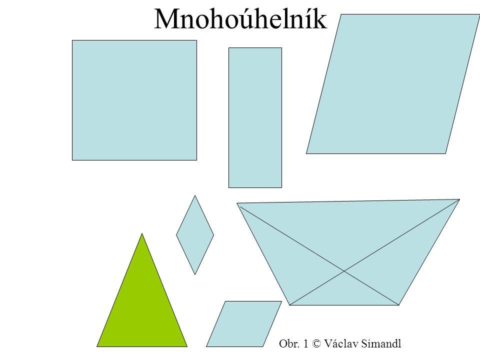 Složení čtyřúhelníku čtyři vrcholy - body čtyři úhly čtyři strany c D C δ γ dvě úhlopříčky d b α β A B a Obr.
