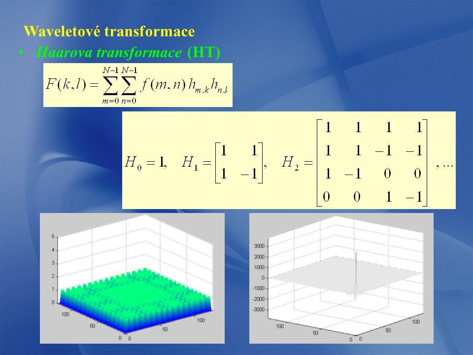 Waveletové transformace Haarova transformace (HT)