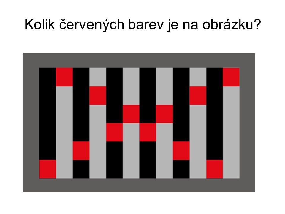 Kolik červených barev je na obrázku?