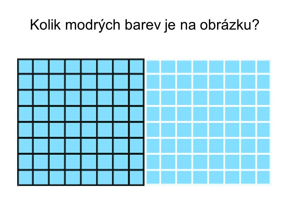 Kolik modrých barev je na obrázku?