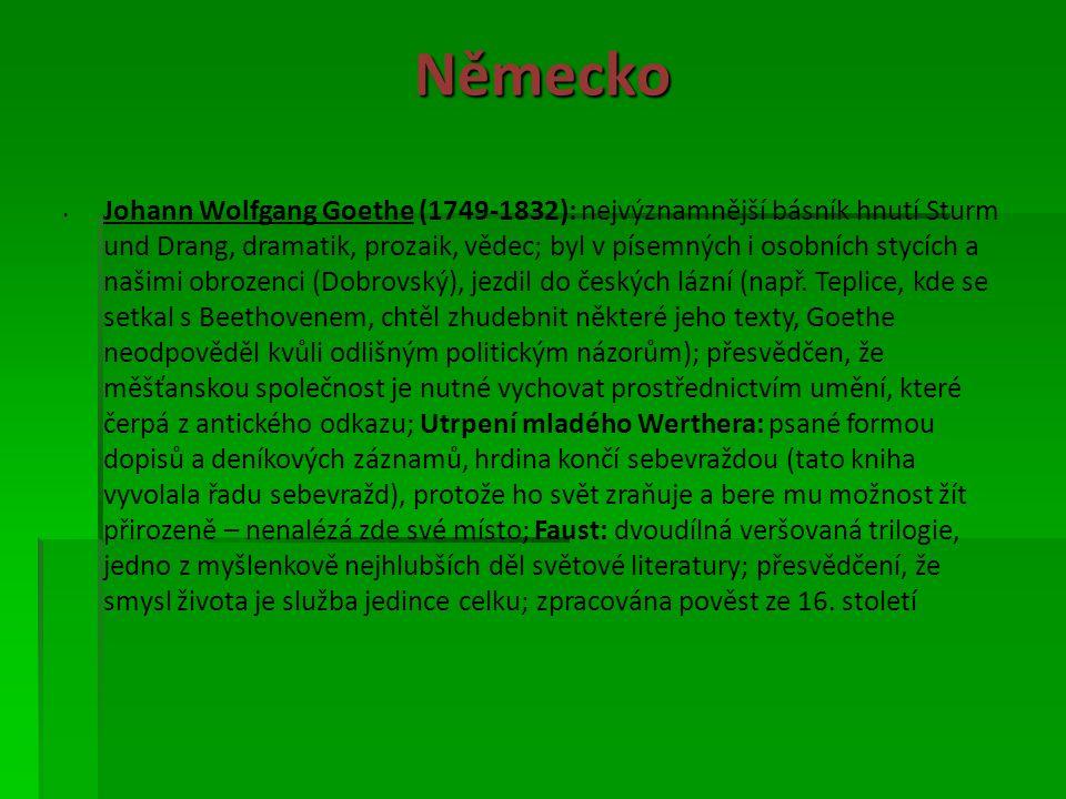 Německo (Nespokojenému učenému Faustovi nabídne Mefisto, zosobňující ďábla, své služby.