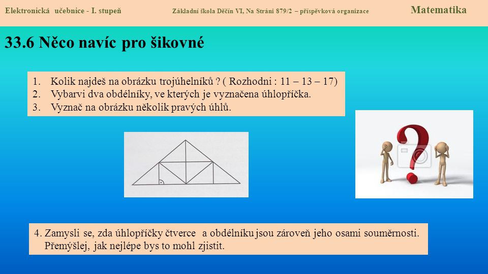 33.7 Square, rectangle Elektronická učebnice - I.