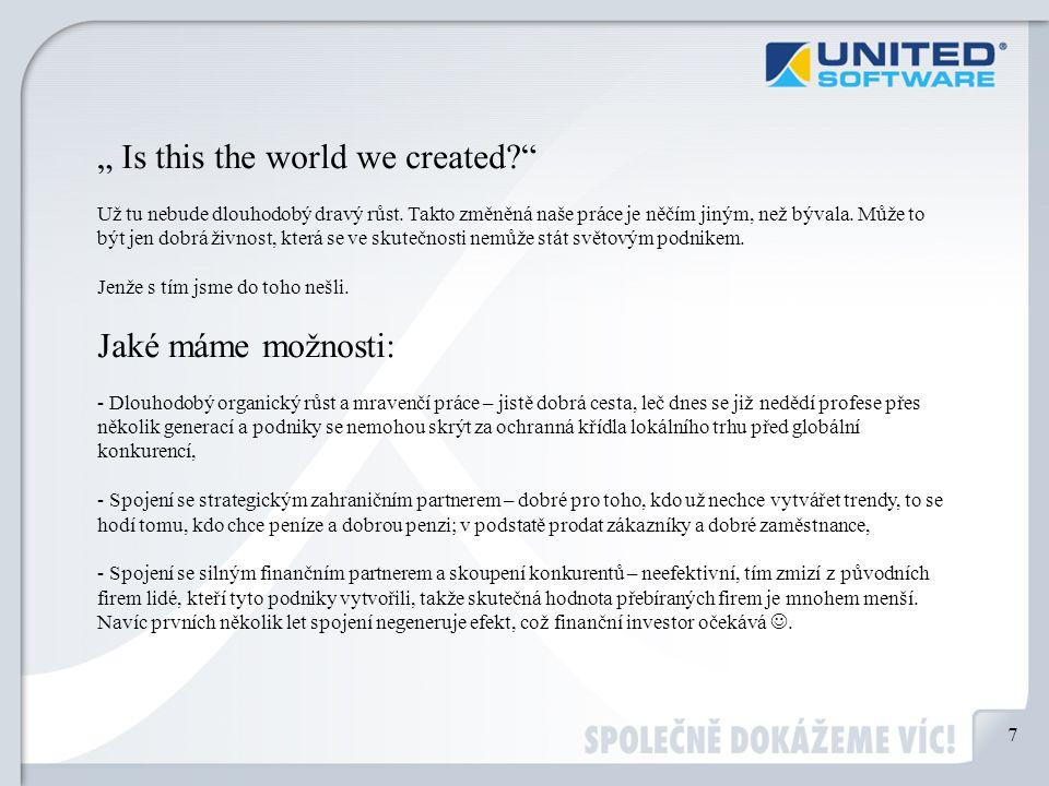 """ Is this the world we created Už tu nebude dlouhodobý dravý růst."