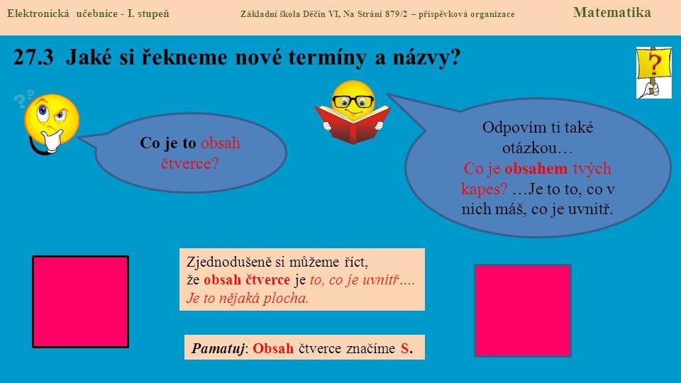 27.3 Jaké si řekneme nové termíny a názvy.Elektronická učebnice - I.