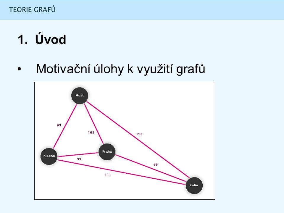 1. Úvod Motivační úlohy k využití grafů