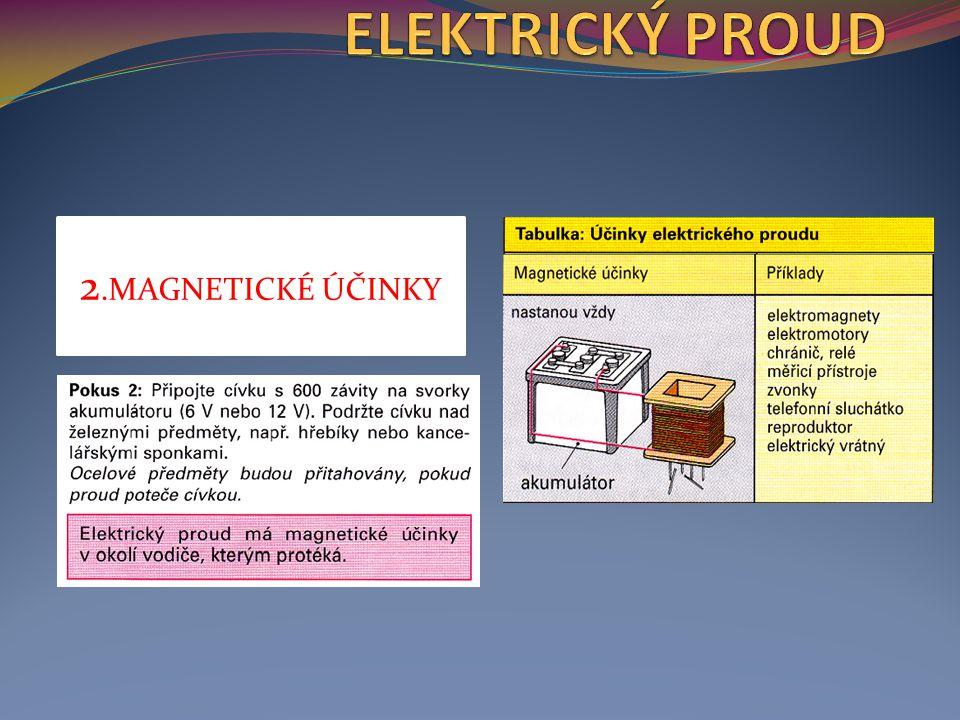 2.MAGNETICKÉ ÚČINKY