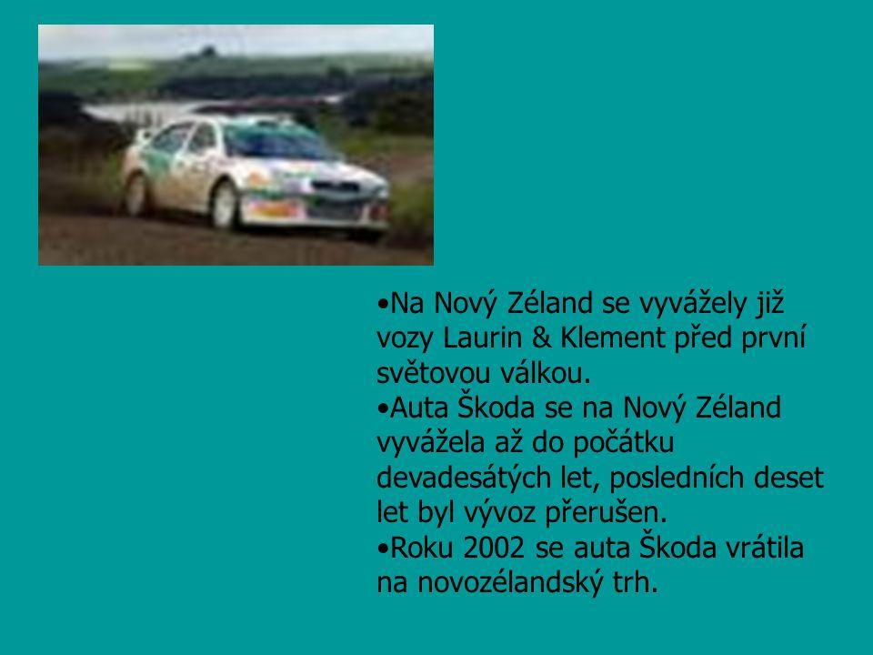 Na Nový Zéland se vyvážely již vozy Laurin & Klement před první světovou válkou.