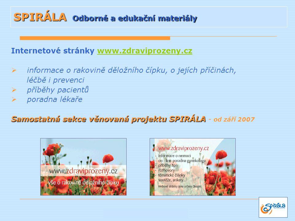 Internetové stránky www.zdraviprozeny.czwww.zdraviprozeny.cz  informace o rakovině děložního čípku, o jejích příčinách, léčbě i prevenci  příběhy pa