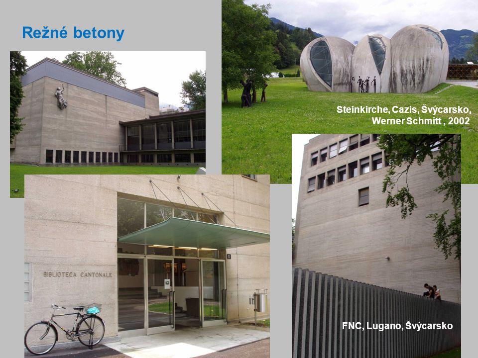 4 Režné betony FNC, Lugano, Švýcarsko Steinkirche, Cazis, Švýcarsko, Werner Schmitt, 2002