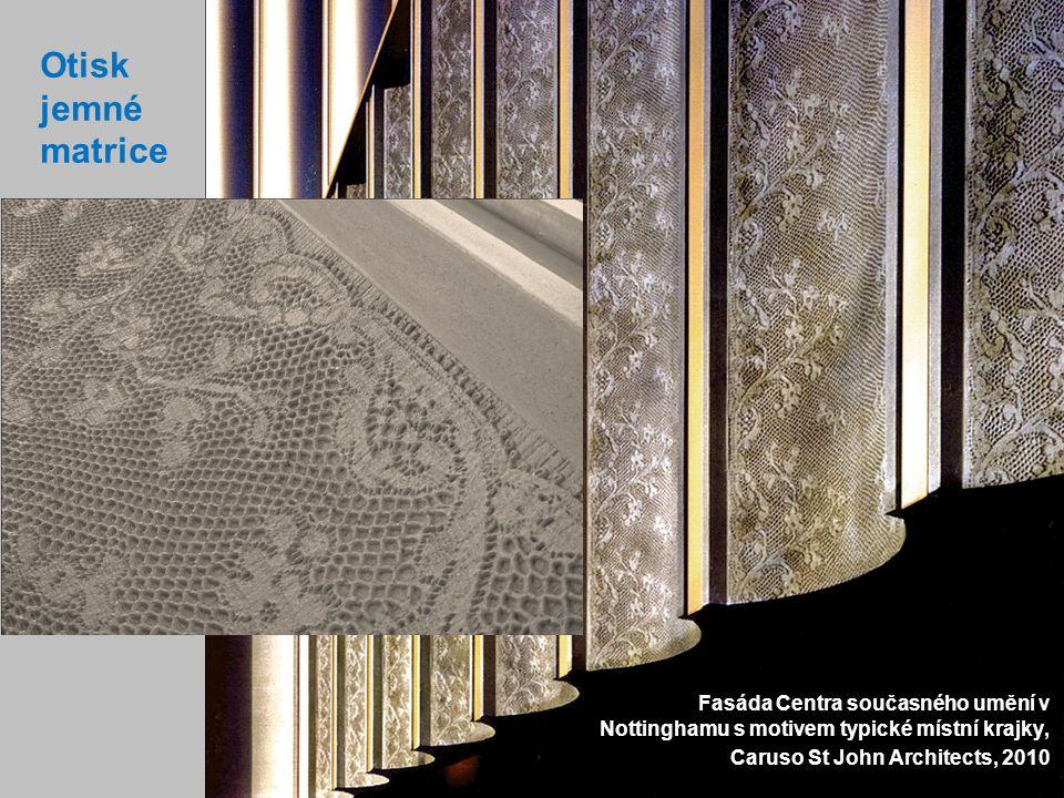 6 Otisk jemné matrice Fasáda Centra současného umění v Nottinghamu s motivem typické místní krajky, Caruso St John Architects, 2010