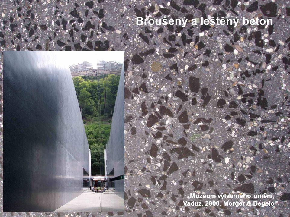Broušený a leštěný beton Muzeum výtvarného umění, Vaduz, 2000, Morger & Degelo
