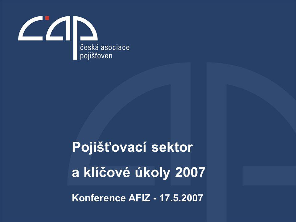 Konference AFIZ - 17.5.2007 Pojišťovací sektor a klíčové úkoly 2007