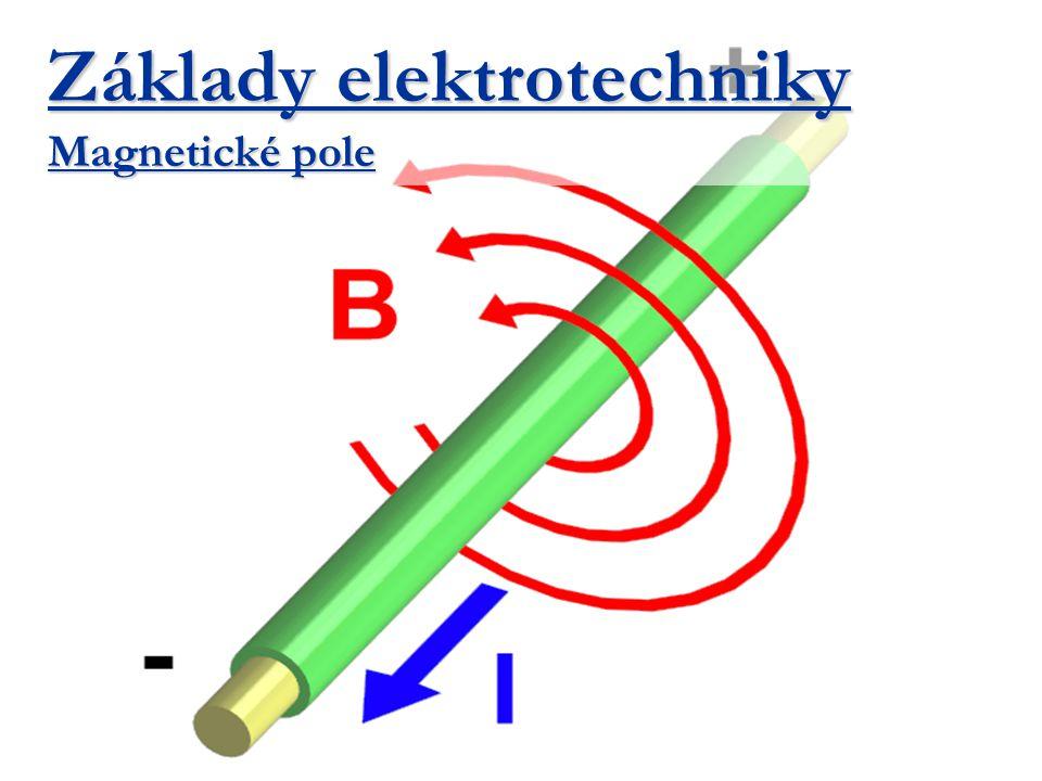 Řešení složitých magnetických obvodů Příklad: Vypočítejte proud cívkou (N=2000 závitů), je-li magnetický indukční tok  = 0,6 mWb.