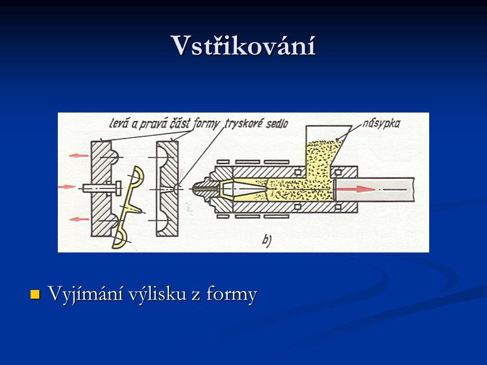 Vytlačování Tváření netvrditelných hmot – výroba trubek – tyčí pásů Tváření netvrditelných hmot – výroba trubek – tyčí pásů