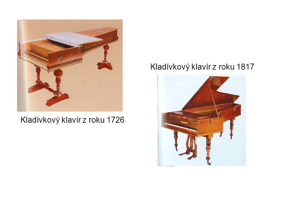 Kladívkový klavír z roku 1726 Kladívkový klavír z roku 1817