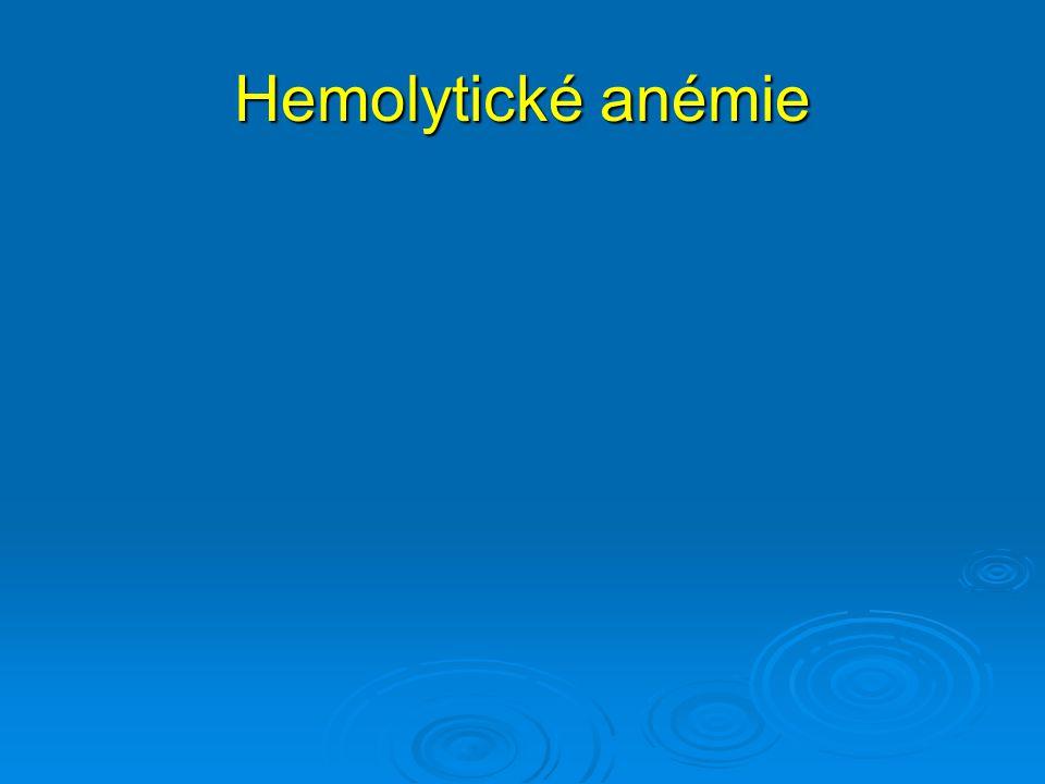 Hemolytické anémie