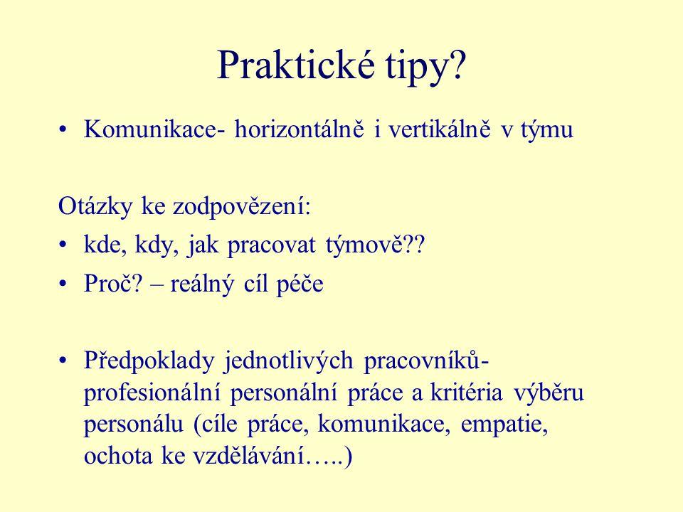 Praktické tipy.