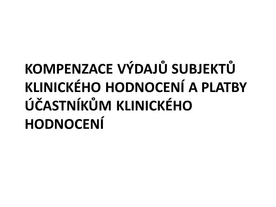 Kompenzace výdajů subjektů KH K provádění plateb účastníkům docházelo od samotných počátků testování léčiv a léčivých postupů.