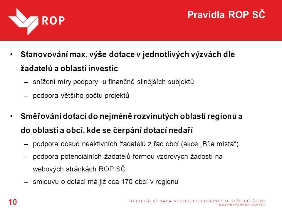 Pravidla ROP SČ Stanovování max.