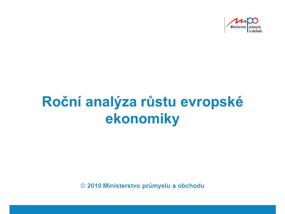 Roční analýza růstu evropské ekonomiky © 2010 Ministerstvo průmyslu a obchodu