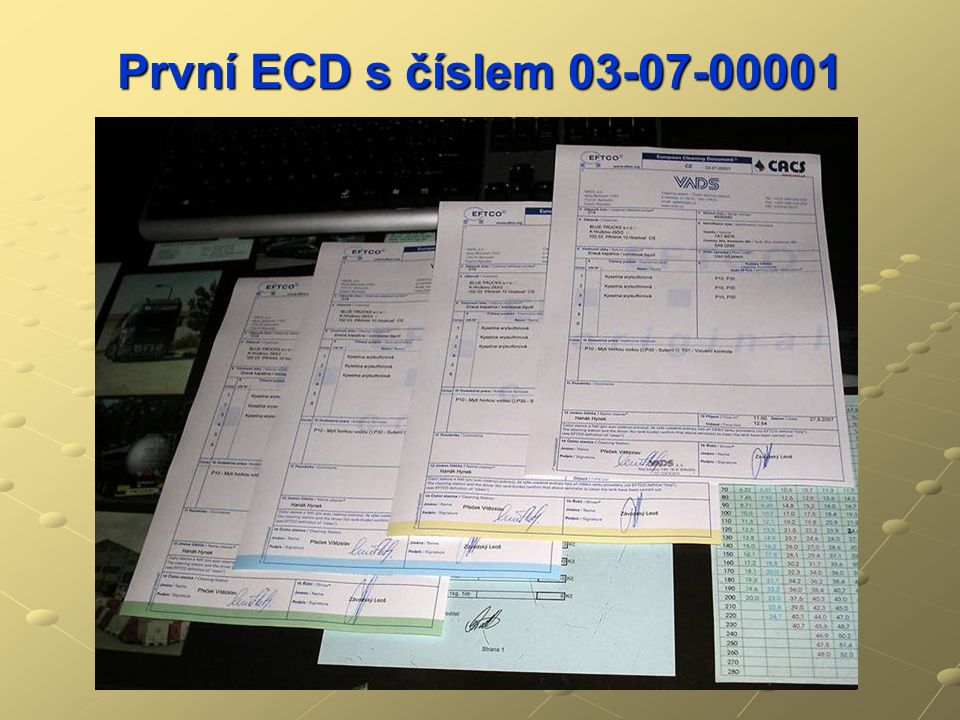První ECD s číslem 03-07-00001