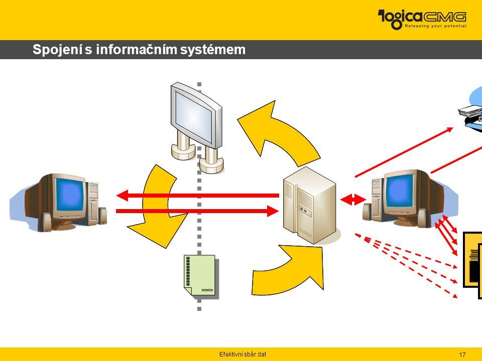 Efektivní sběr dat 17 Spojení s informačním systémem