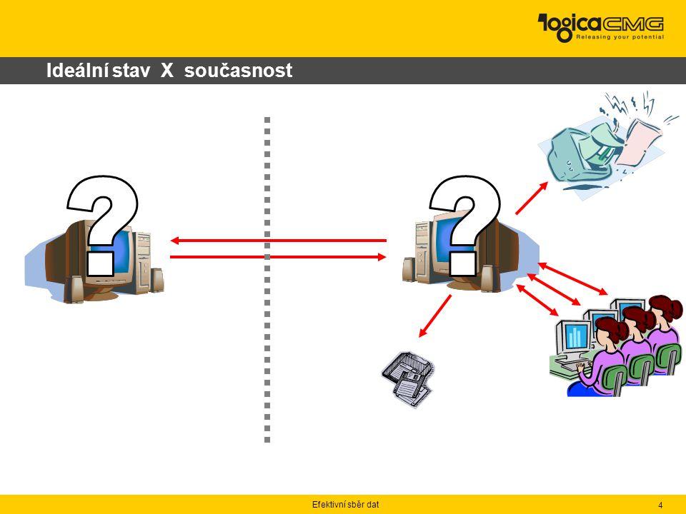 Efektivní sběr dat 4 Ideální stav X současnost