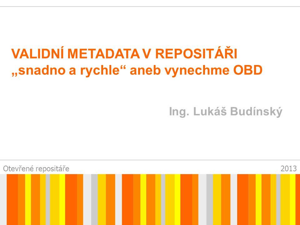 Otevřené repositáře2013 DSPACE UTB - OBECNĚ