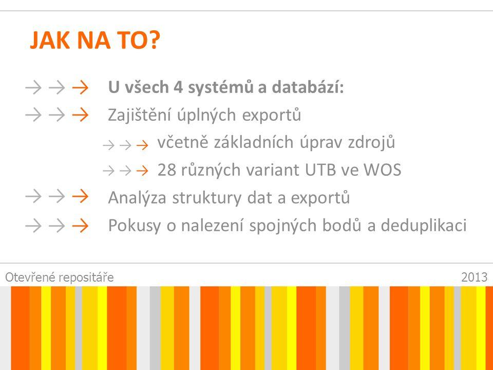 Otevřené repositáře2013 * ZÁZNAMŮ V PRAXI Kontrola nových záznamů 1x týdně WOS a SCOPUS -> tabulka OG=(Fac Appl Informat and Zlin) or OG=(Inst Elect @ Measurement and Zlin) or OG=(TOMAS BATA UNIV ZLIN) or OG=(TOMAS BATA UNIV) or OG=(TECH UNIV ZLIN) or OG=(THOMAS BATA UNIV ZLIN) or OG=(TOMAS BAT UNIV ZLIN) or OG=(TOMAS BATA UNIV INST) or OG=(TOMAS BATA UNIV ZILIN) or OG=(TOMAS BATA UNIV ZILN) or OG=(THOMAS BATA UNIV) or OG=(TECH UNIV ZLIN) or OG=(TOMAS BATA UNIV NAM) or OG=(TOMAS BATA UNIV AIN) or OG=(TOMAS BAT UNIV) or OG=(UNIV ZLIN) or OG=(FAC TECHNOL ZLIN) or OG=(Univ Tomase Bati Zline) or OG=(Univ Tomase Bative Zline) or OG=(Tomas Bala Univ) or OG=(Tomas Beta Univ Zlin) or OG=(Tomas Tata Univ Zlin) or OG=(TOMA BATA UNIV) or OG=(T BATA UNIV) Refined by: Document Type=( ARTICLE OR REVIEW ) Refined by: Document Type=( PROCEEDINGS PAPER ) Output Records Step 1: All records on page Step 2: 1-500 Step 3: Save to Tab-delimited (Win)