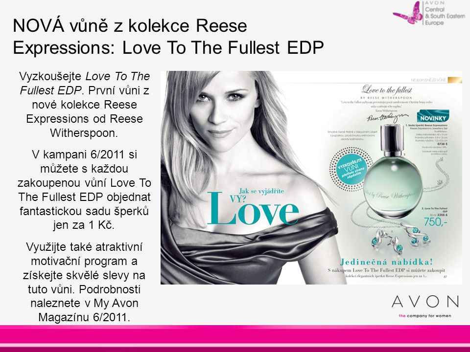 NOVÁ vůně z kolekce Reese Expressions: Love To The Fullest EDP Vyzkoušejte Love To The Fullest EDP.