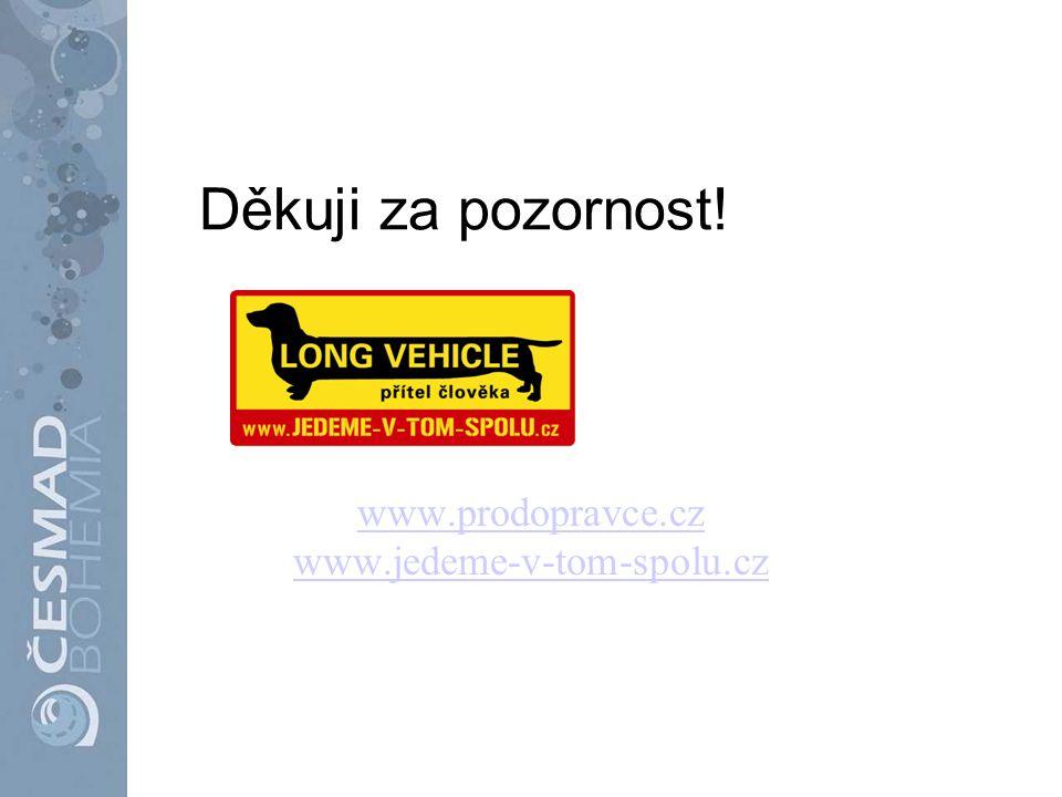 www.prodopravce.cz www.jedeme-v-tom-spolu.cz Děkuji za pozornost!