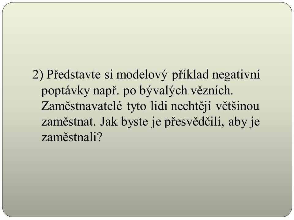 2) Představte si modelový příklad negativní poptávky např.