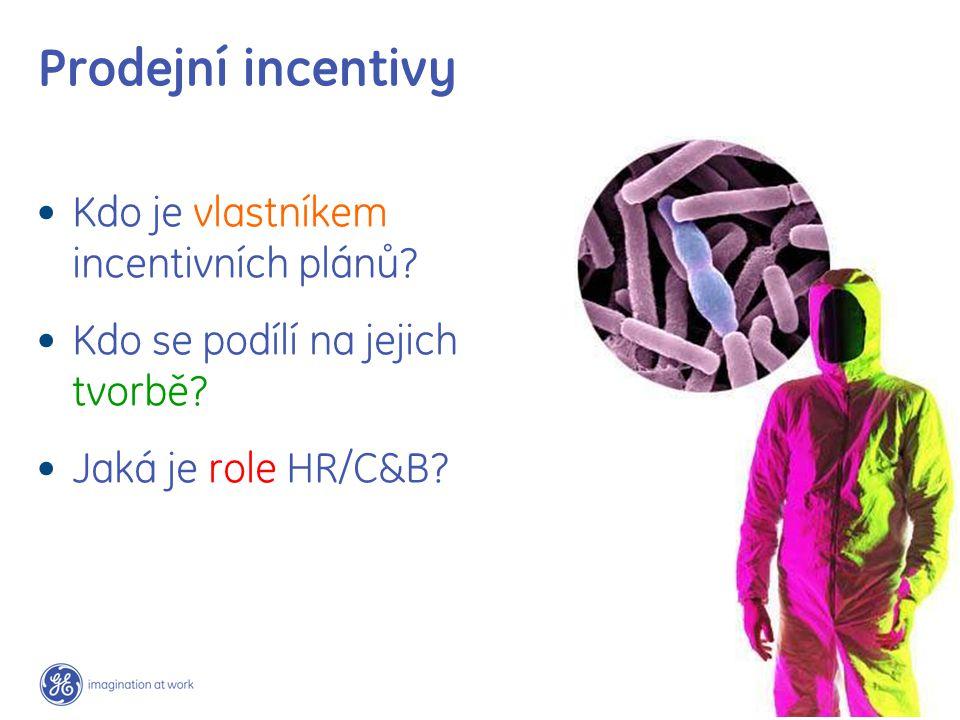 Prodejní incentivy Kdo je vlastníkem incentivních plánů.