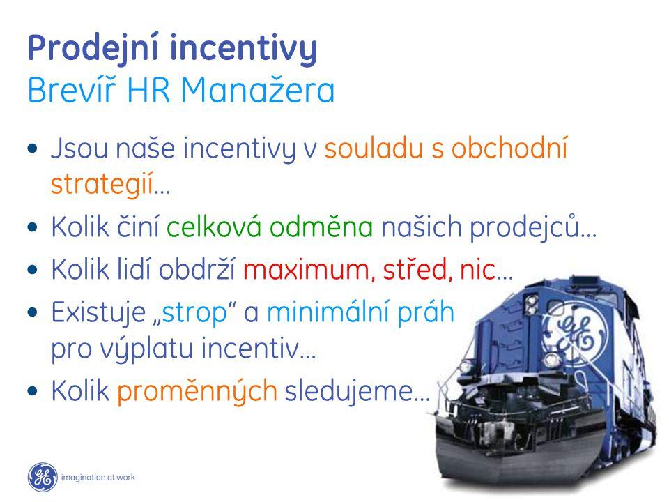 """Prodejní incentivy Brevíř HR Manažera Jsou naše incentivy v souladu s obchodní strategií… Kolik činí celková odměna našich prodejců… Kolik lidí obdrží maximum, střed, nic… Existuje """"strop a minimální práh pro výplatu incentiv… Kolik proměnných sledujeme…"""