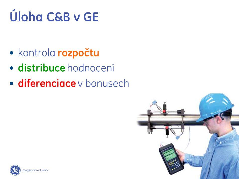 Úloha C&B v GE kontrola rozpočtu distribuce hodnocení diferenciace v bonusech