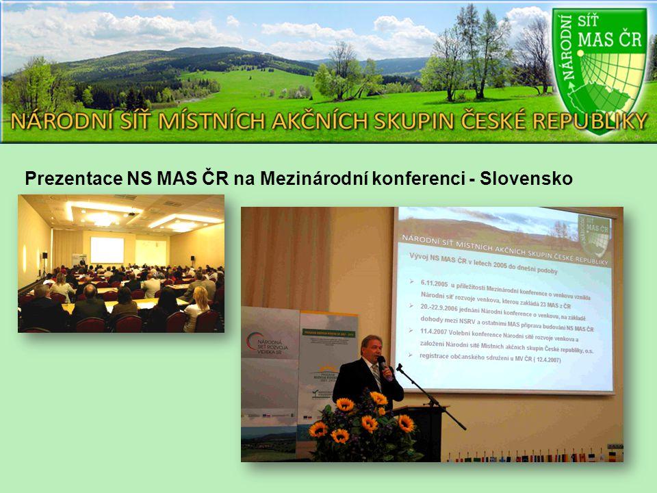 Prezentace NS MAS ČR na Mezinárodní konferenci - Slovensko