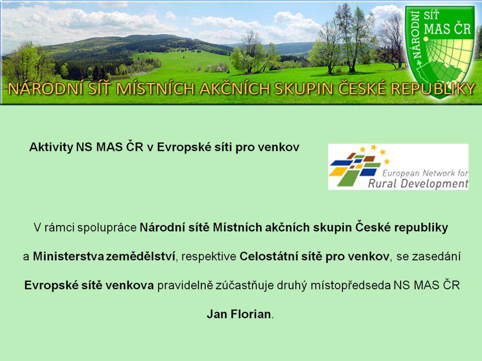 V rámci aktivit Evropské sítě vznikly pracovní skupiny, kde má NS MAS ČR také své zastoupení 1.