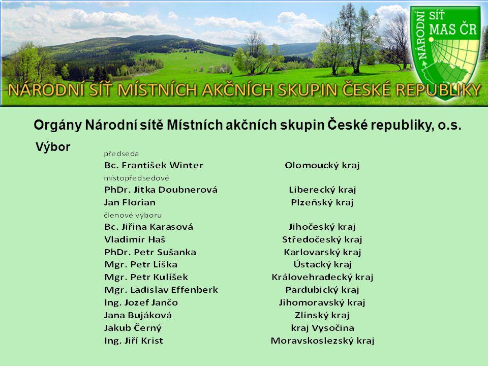 Orgány Národní sítě Místních akčních skupin České republiky, o.s. Výbor