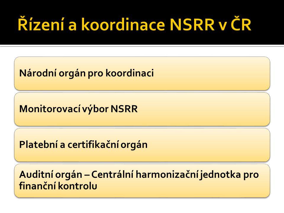 Národní orgán pro koordinaciMonitorovací výbor NSRRPlatební a certifikační orgán Auditní orgán – Centrální harmonizační jednotka pro finanční kontrolu