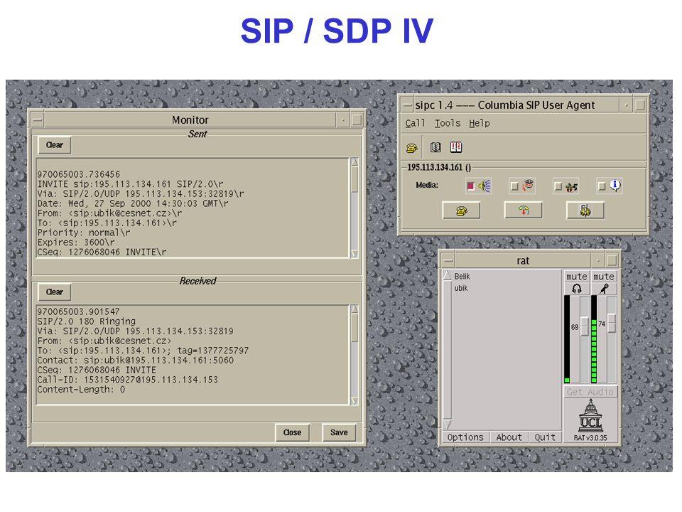 SIP / SDP IV