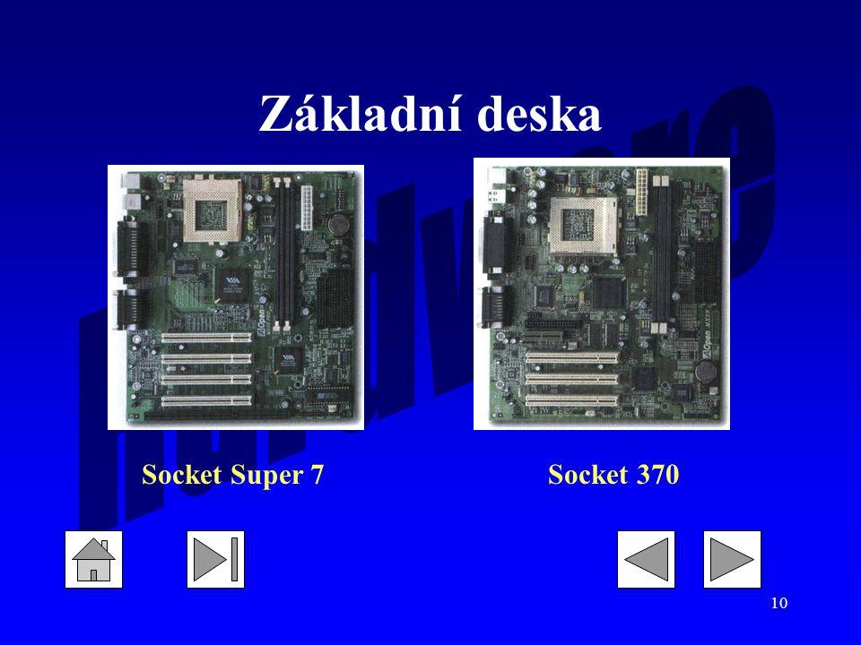 10 Základní deska Socket Super 7Socket 370