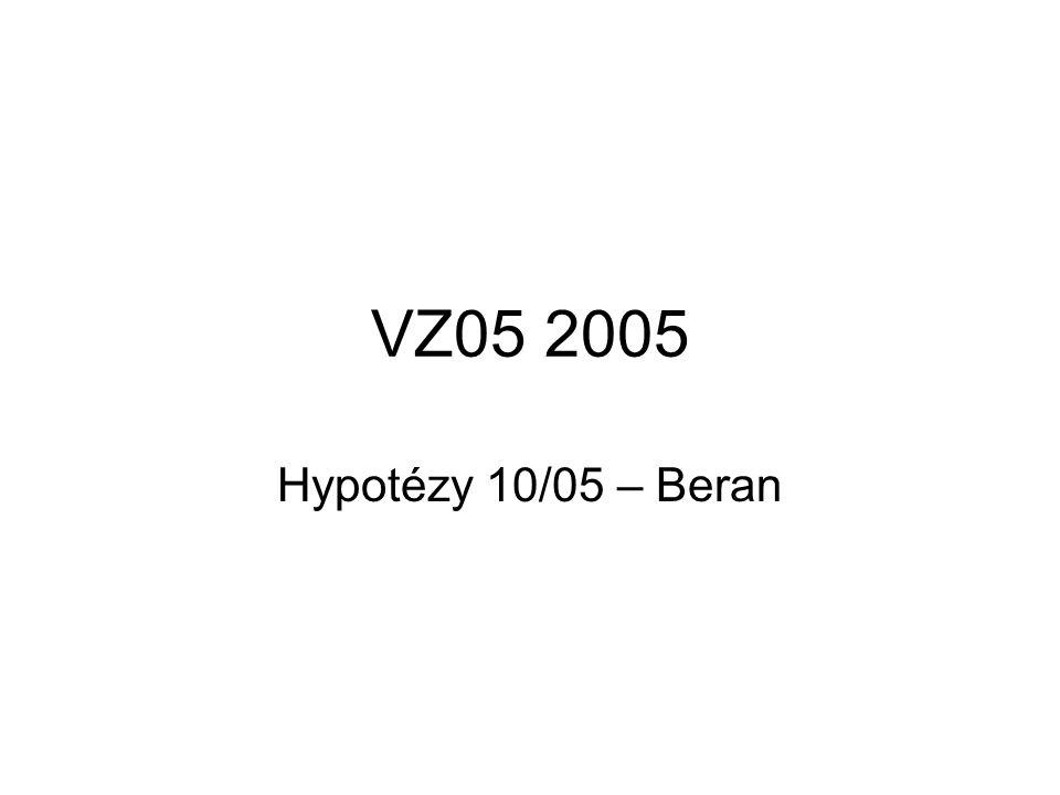 VZ05 2005 Hypotézy 10/05 – Beran
