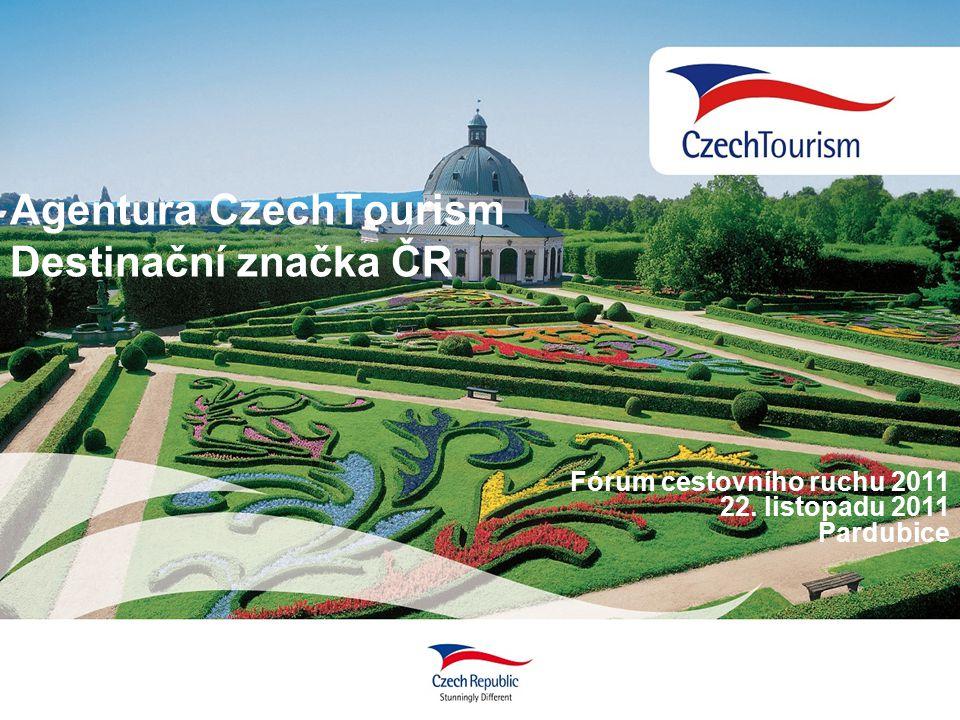 Agentura CzechTourism Destinační značka ČR Fórum cestovního ruchu 2011 22. listopadu 2011 Pardubice