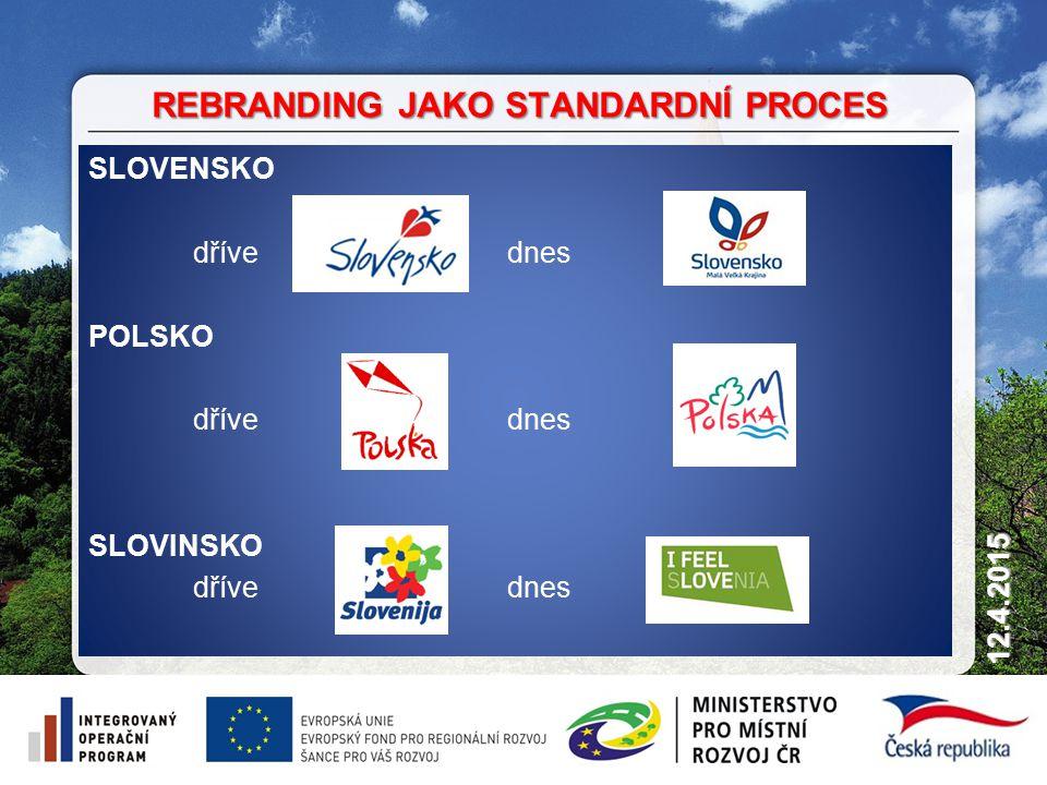 9 12.4.2015 SLOVENSKO dřívednes POLSKO dřívednes SLOVINSKO dřívednes REBRANDING JAKO STANDARDNÍ PROCES