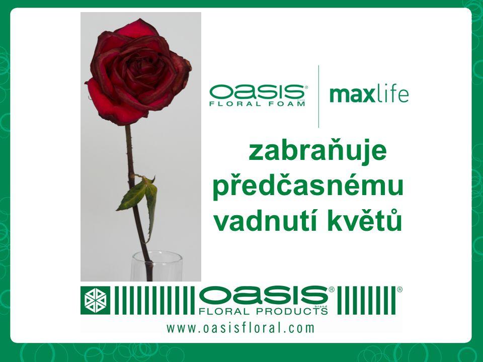 Vzabraňuje předčasnému vadnutí květů