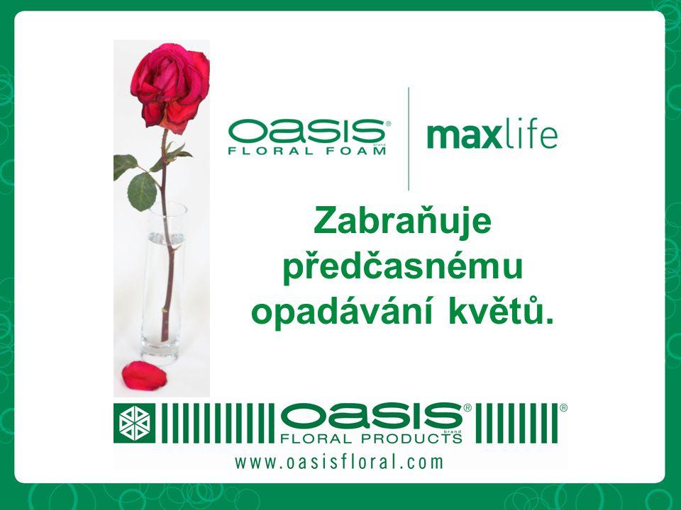 Zabraňuje předčasnému opadávání květů.